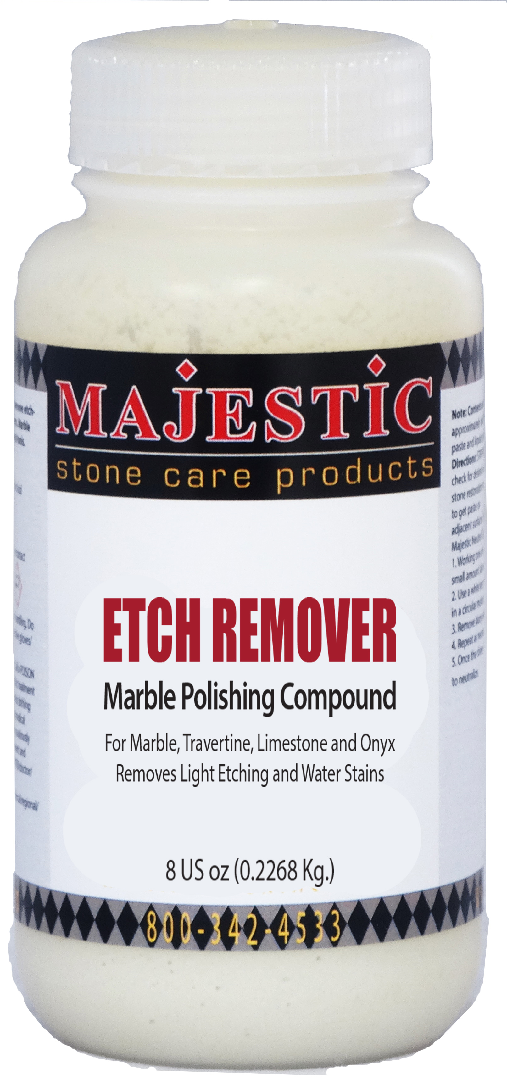 Etch Remover Marble Polishing Compound stonecare signature, marble, polish, polishing, powder, compound, remove, etching, etch, removal, travertine, water, acid, onyx, light, stain, stains, marble, scratches, scratch, watermark, mark, marks, rings, paste, Stonecare PRO Signature ETCH REMOVER, Majestic etch remover, water ring, marble water spot remover, 5x polishing powder, dull spot, restore shine to your polished marble, parish supply, vmc tac, rocket supply, mb stone, gran quartz, marble scratch repair, water stain, easy to use, ready to use