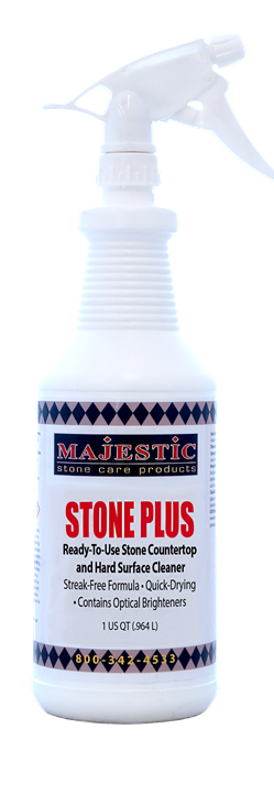 Stone Plus Spray Ready-To-Use Cleaner marble, granite, cleaner, natural, stone, tile, cleaning, counter, tops, countertops, walls, ready to use, RTU, shower, mirror