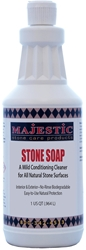 Stone Soap Qt.  stone, soap, natural, concentrated, cleaner, cleaning, conditioner, daily, stone, surface, surfaces, safe, marble, granite, limestone, travertine, terrazzo, agglomerate, slate, unglazed, ceramic, porcelain, terra cotta, saltillo, concrete, dirt, repellent, barrier, slip, resistance, polished, care, products, stonecare, stone care, stone, majestic, m3 technologies,