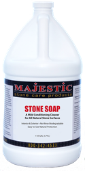 Stone Soap stone, soap, natural, concentrated, cleaner, cleaning, conditioner, daily, stone, surface, surfaces, safe, marble, granite, limestone, travertine, terrazzo, agglomerate, slate, unglazed, ceramic, porcelain, terra cotta, saltillo, concrete, dirt, repellent, barrier, slip, resistance, polished, care, products, stonecare, stone care, stone, majestic, m3 technologies,